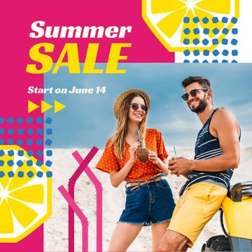 Summer Offer with Couple at the Beach