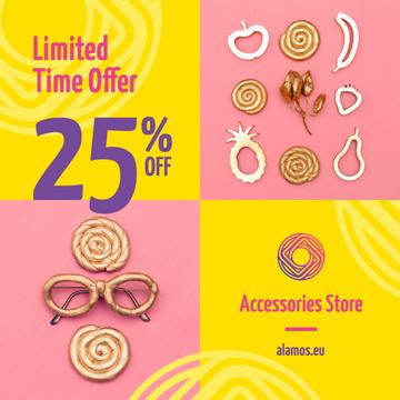 Shiny Female Accessories Sale Announcement