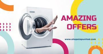 Female Legs in Washing Machine