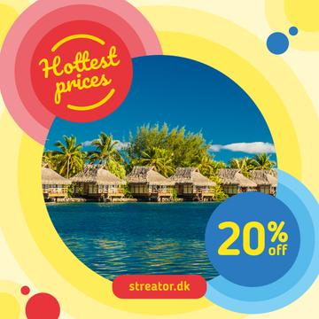 Vacation Tour Offer with Beach Huts