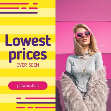 Fashion Sale with Woman in Fur Coat