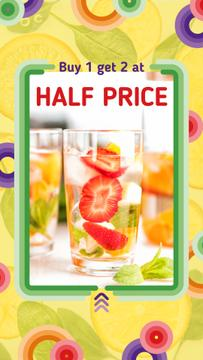 Summer Drink Offer with Berries