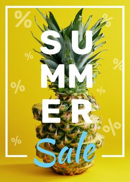 Summer Sale Tropical Pineapple in Yellow