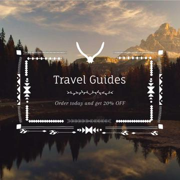 Wilderness Tour with Scenic Lake Mountains Bird View