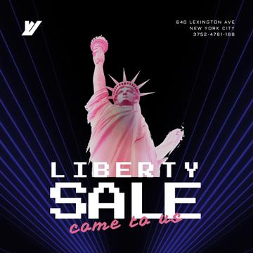Independence Day Liberty Statue in Pink