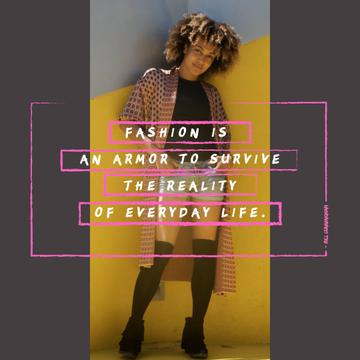 Fashion Quote with Stylish Young Woman