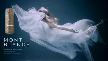 Perfume Ad Magical Woman Underwater