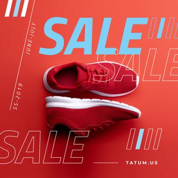 Sport Equipment Ad with Red Shoes