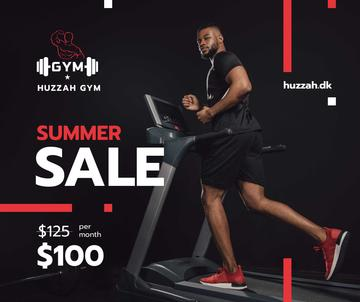 Gym Ticket Offer with Man on Treadmill