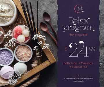 Spa Program promotion Coarse Salt and Flowers