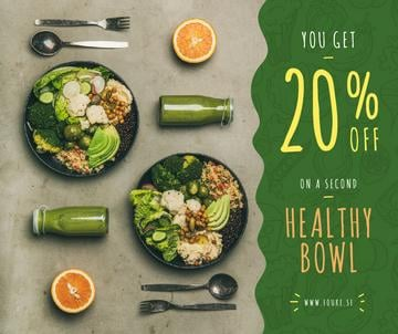 Healthy Food Offer with Vegetable Bowls