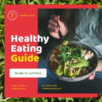 Healthy Food Concept with Woman holding Bowl