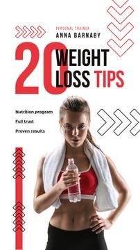 Weight Loss Program Ad with Fit Woman