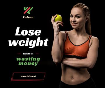 Weight Loss Program Ad Fit Smiling Woman
