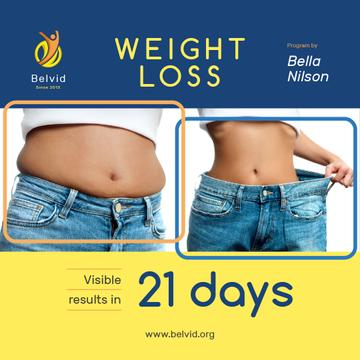 Weight Loss Program Ad with Before and After Photo