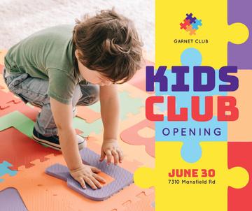 Kids Club Ad Boy Playing Puzzle