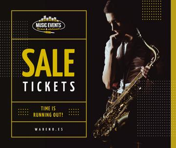 Saxophone Concert invitation Musician in spotlight