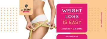 Weight Loss Program Ad with Slim Female Body