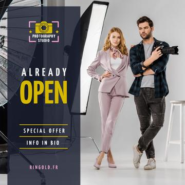 Studio Photography Offer Couple with Camera