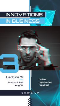 Innovative Technology Ad Man Using VR Glasses