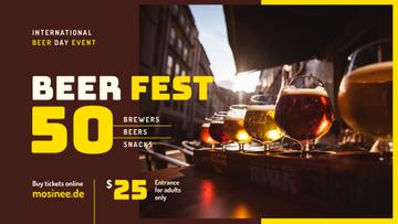 Beer Day Fest announcement Drinks in Glasses