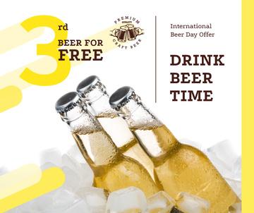 Beer Day Offer Bottles on Ice