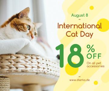 Cat Day Sale Cute Red Cat