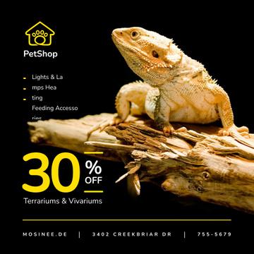 Pet Shop Offer Lizard on a Log