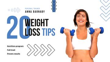 Woman Training with Dumbbells for Weight Loss