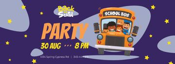 Back to School Sale with Kids in School Bus