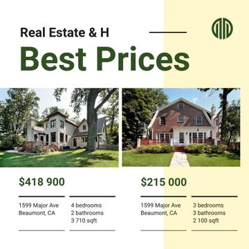 Real Estate Property Offer Cozy Houses
