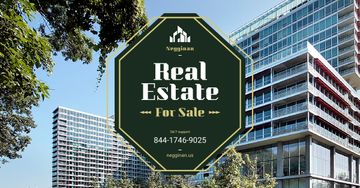Commercial Real Estate Glass Building