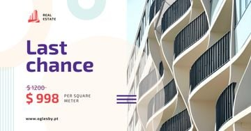 Real Estate Offer Building White Facade