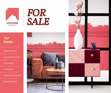 Luxury Home Offer Interior in Pink