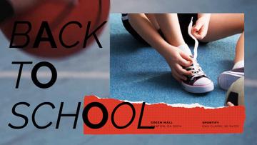 Back to School Offer Kid Tying Gumshoes
