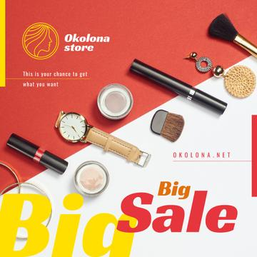 Makeup Sale Ad Cosmetics and Accessories