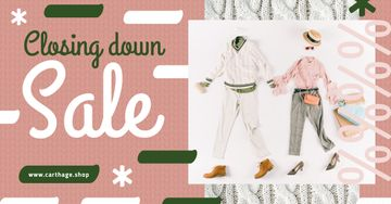 Clothes Sale Offer Flat Lay Matching Couple Outfit