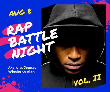 Rap Concert Artist Wearing Hood