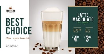 Coffee Shop Promotion Latte in Glass