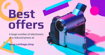 Electronics Offer Video Camera in Blue