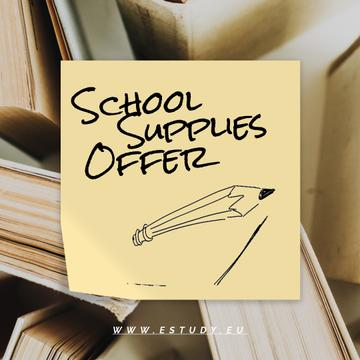 Special School Offer with pencil drawing the line