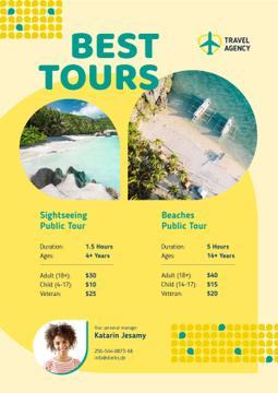 Travel Tour Offer with Sea Coast Views