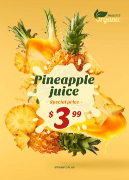 Pineapple Juice Offer Fresh Fruit Pieces