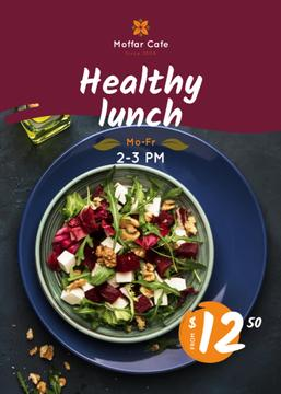 Healthy Menu Offer Salad in a Plate