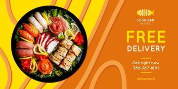 Sushi Menu Offer Fresh Seafood Set