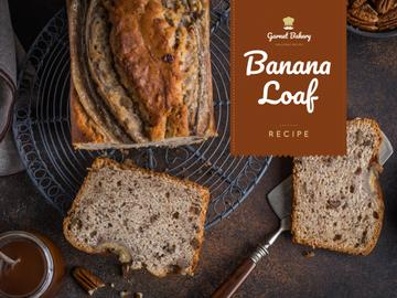 Bakery Ad with Banana Bread Loaf