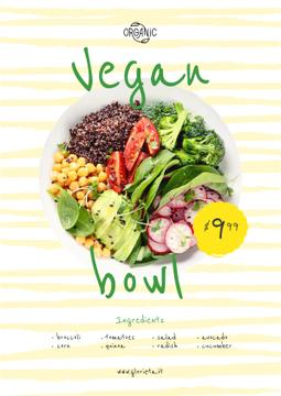 Vegan Menu Offer with Vegetable Bowl