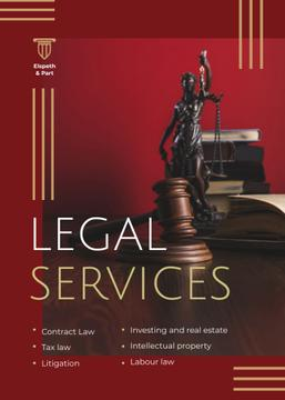 Legal Services Ad Themis Statuette
