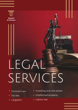 Legal Services Ad Themis Statuette