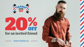 Barbershop Ad Stylish Bearded Barber
